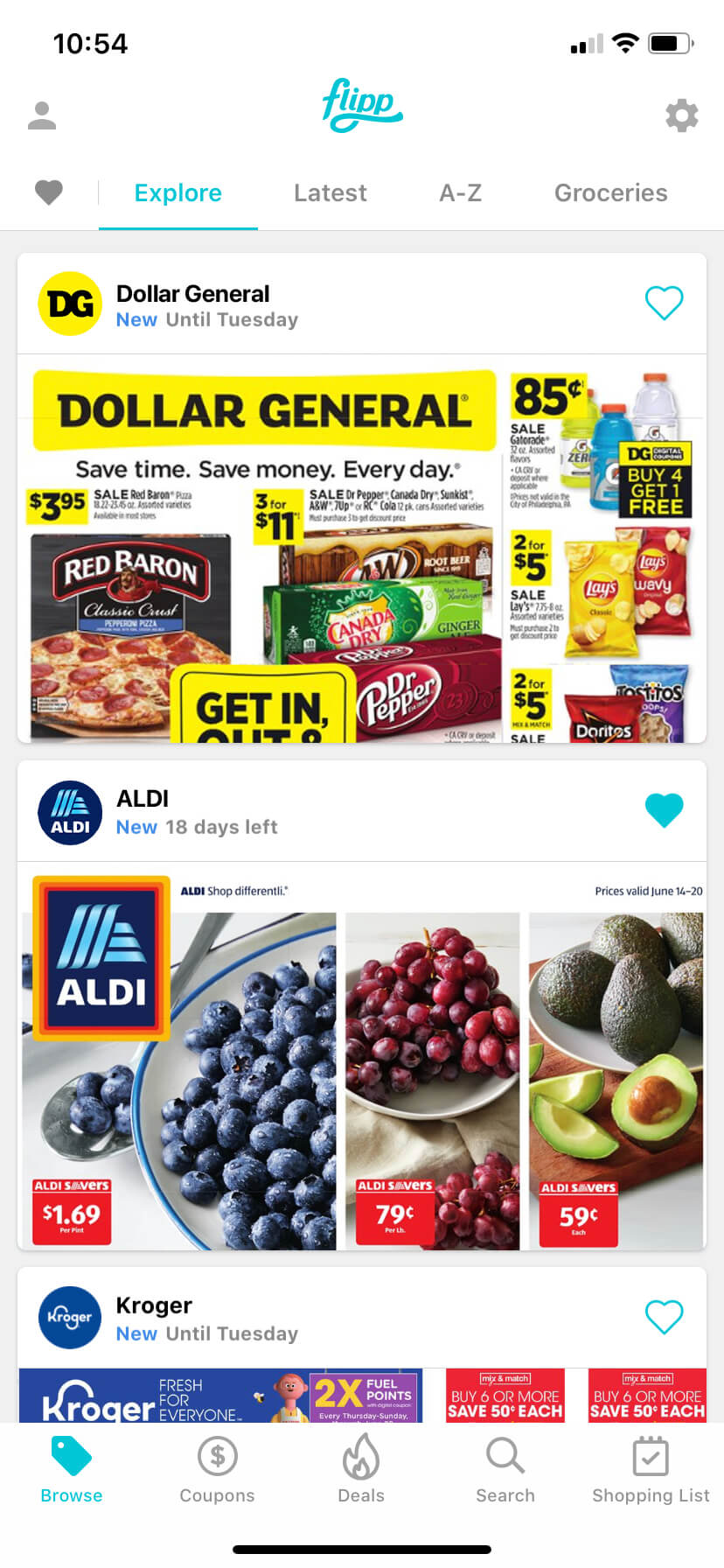 Browse weekly ads